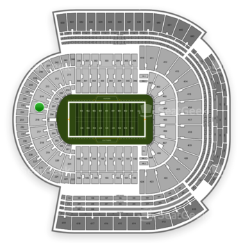 LSU Tigers Football at Tiger Stadium Section 215 View