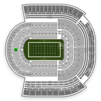 LSU Tigers Football at Tiger Stadium Section 216 View