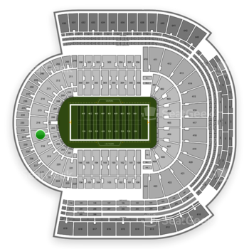 LSU Tigers Football at Tiger Stadium Section 217 View