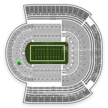 LSU Tigers Football at Tiger Stadium Section 218 View