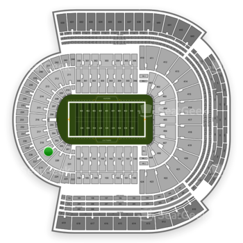 LSU Tigers Football at Tiger Stadium Section 219 View