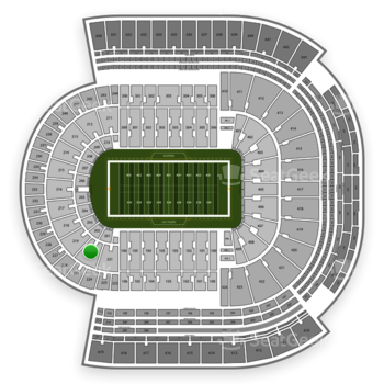 LSU Tigers Football at Tiger Stadium Section 220 View