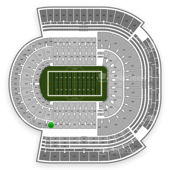 LSU Tigers Football at Tiger Stadium Section 222 View