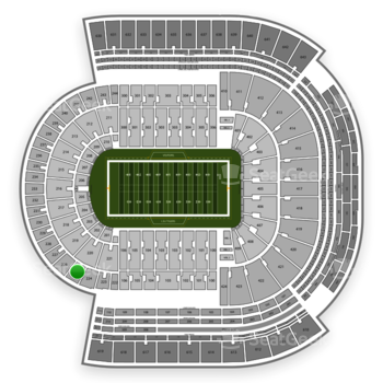 LSU Tigers Football at Tiger Stadium Section 225 View