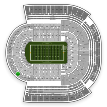 LSU Tigers Football at Tiger Stadium Section 226 View