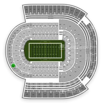 LSU Tigers Football at Tiger Stadium Section 228 View