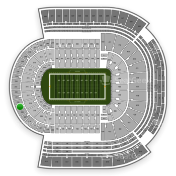 LSU Tigers Football at Tiger Stadium Section 229 View