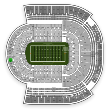 LSU Tigers Football at Tiger Stadium Section 231 View