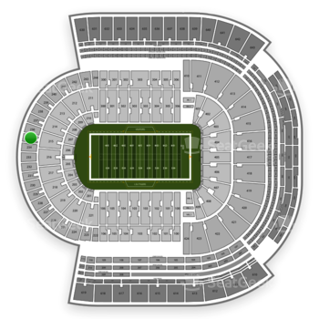 LSU Tigers Football at Tiger Stadium Section 235 View