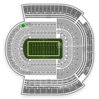 LSU Tigers Football at Tiger Stadium Section 242 View