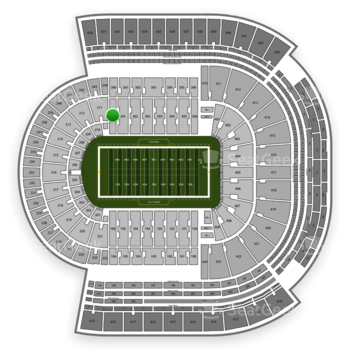 LSU Tigers Football at Tiger Stadium Section 300 View
