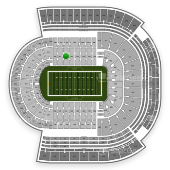 LSU Tigers Football at Tiger Stadium Section 302 View