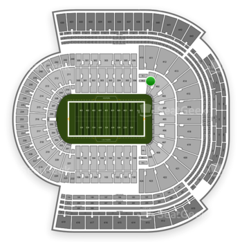 LSU Tigers Football at Tiger Stadium Section 401 View