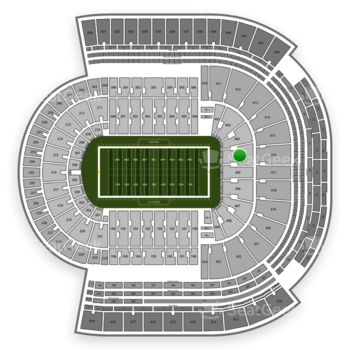 LSU Tigers Football at Tiger Stadium Section 404 View
