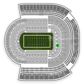 LSU Tigers Football at Tiger Stadium Section 406 View