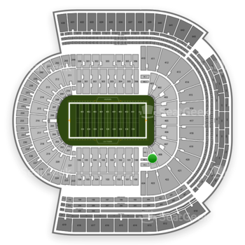 LSU Tigers Football at Tiger Stadium Section 409 View