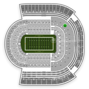 LSU Tigers Football at Tiger Stadium Section 413 View