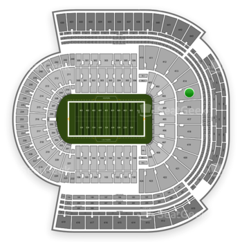 LSU Tigers Football at Tiger Stadium Section 415 View