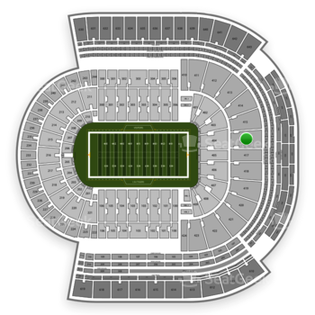 LSU Tigers Football at Tiger Stadium Section 416 View