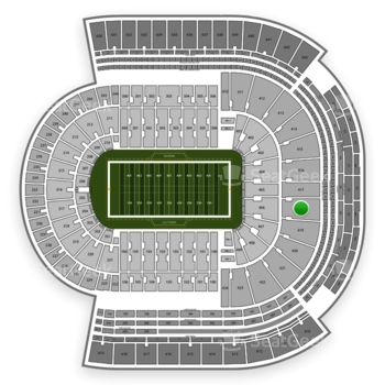 LSU Tigers Football at Tiger Stadium Section 418 View
