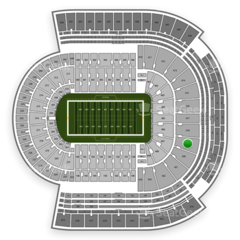 LSU Tigers Football at Tiger Stadium Section 419 View
