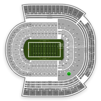 LSU Tigers Football at Tiger Stadium Section 422 View
