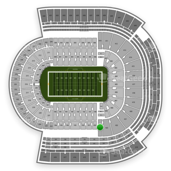 LSU Tigers Football at Tiger Stadium Section 424 View