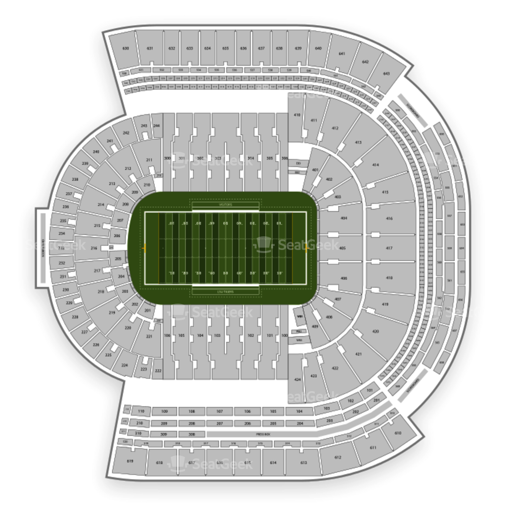 LSU Tigers Football Seating Chart