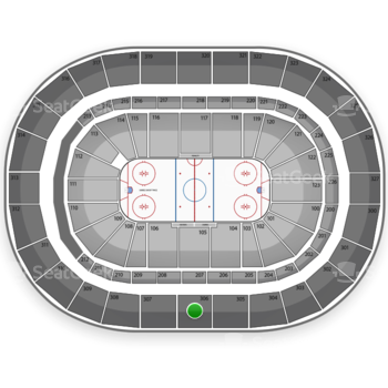 Buffalo Sabres at First Niagara Center Section 306 View