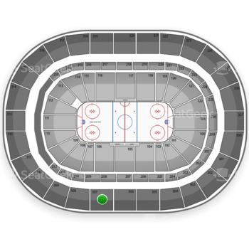 Buffalo Sabres at First Niagara Center Section 307 View