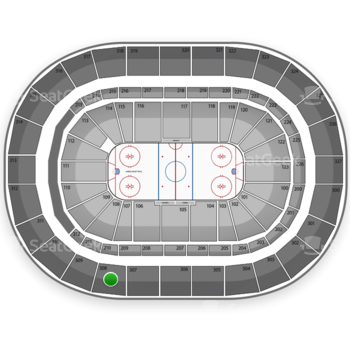 Buffalo Sabres at First Niagara Center Section 308 View