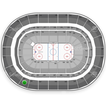 Buffalo Sabres at First Niagara Center Section 309 View