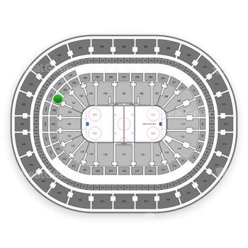 Buffalo Sabres at KeyBank Center Section 201 View