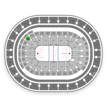 Buffalo Sabres at KeyBank Center Section 202 View