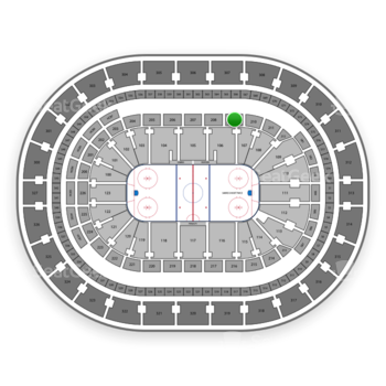 Buffalo Sabres at KeyBank Center Section 209 View