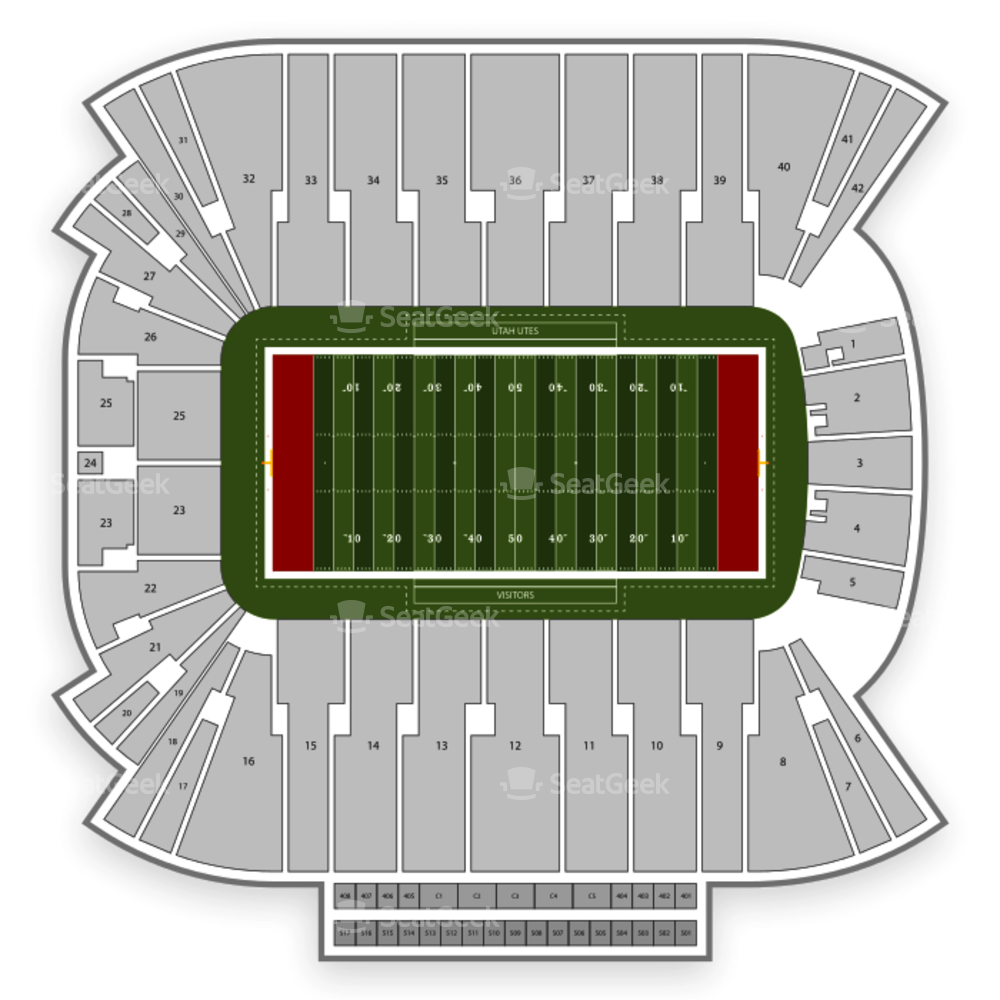 Utah Utes Football Seating Chart