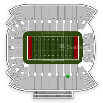 Utah Utes Football at Rice Eccles Stadium Section 10 View