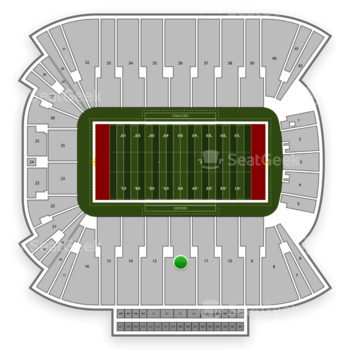 Utah Utes Football at Rice Eccles Stadium Section 12 View