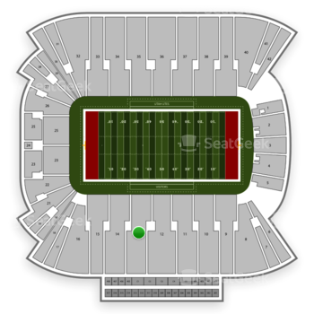 Utah Utes Football at Rice Eccles Stadium Section 13 View