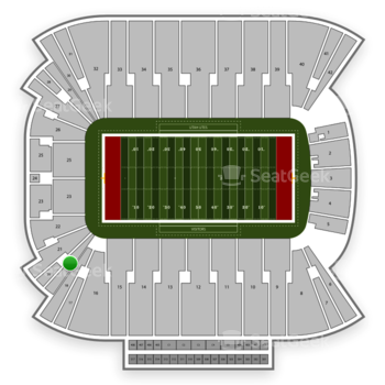 Utah Utes Football at Rice Eccles Stadium Section 19 View
