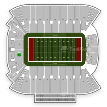 Utah Utes Football at Rice Eccles Stadium Section 23 View