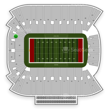 Utah Utes Football at Rice Eccles Stadium Section 26 View