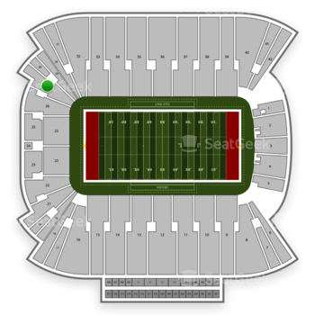 Utah Utes Football at Rice Eccles Stadium Section 27 View