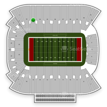Utah Utes Football at Rice Eccles Stadium Section 33 View