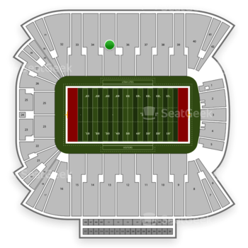 Utah Utes Football at Rice Eccles Stadium Section 35 View