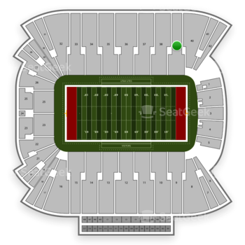 Utah Utes Football at Rice Eccles Stadium Section 39 View