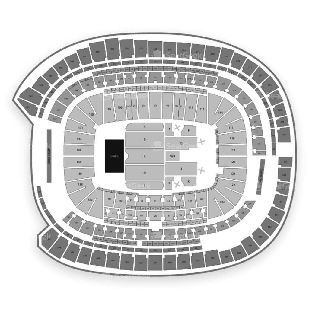 minnesota vikings seating chart map seatgeek