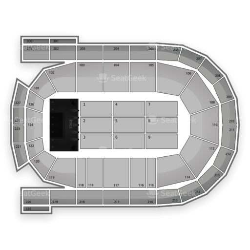 Mohegan Sun Arena at Casey Plaza Seating Chart