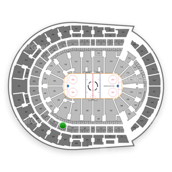 Nashville Predators at Bridgestone Arena Section 206 View