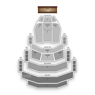 Belk Theatre Seating Chart Theater